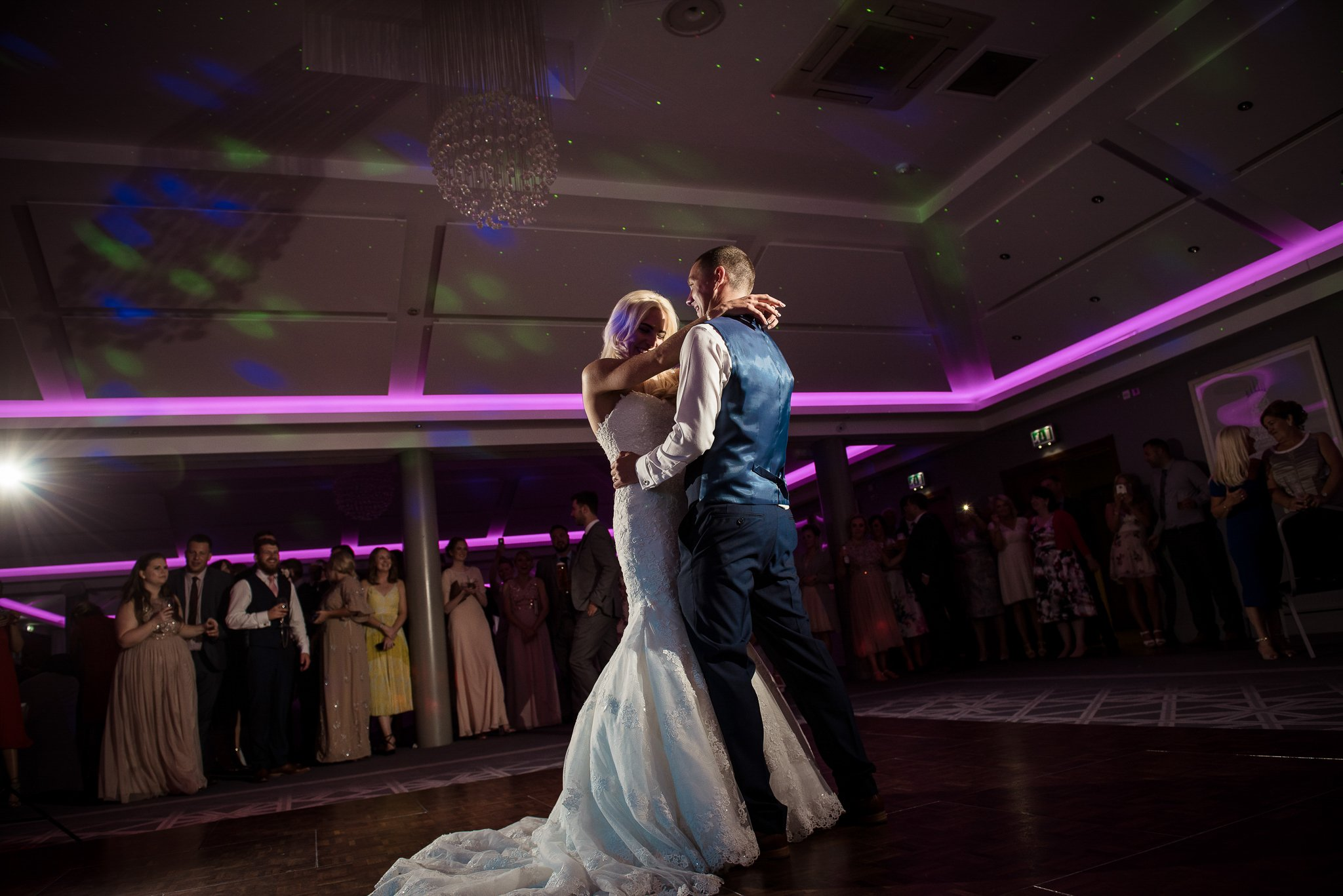 bride and groom dancing for the first dance